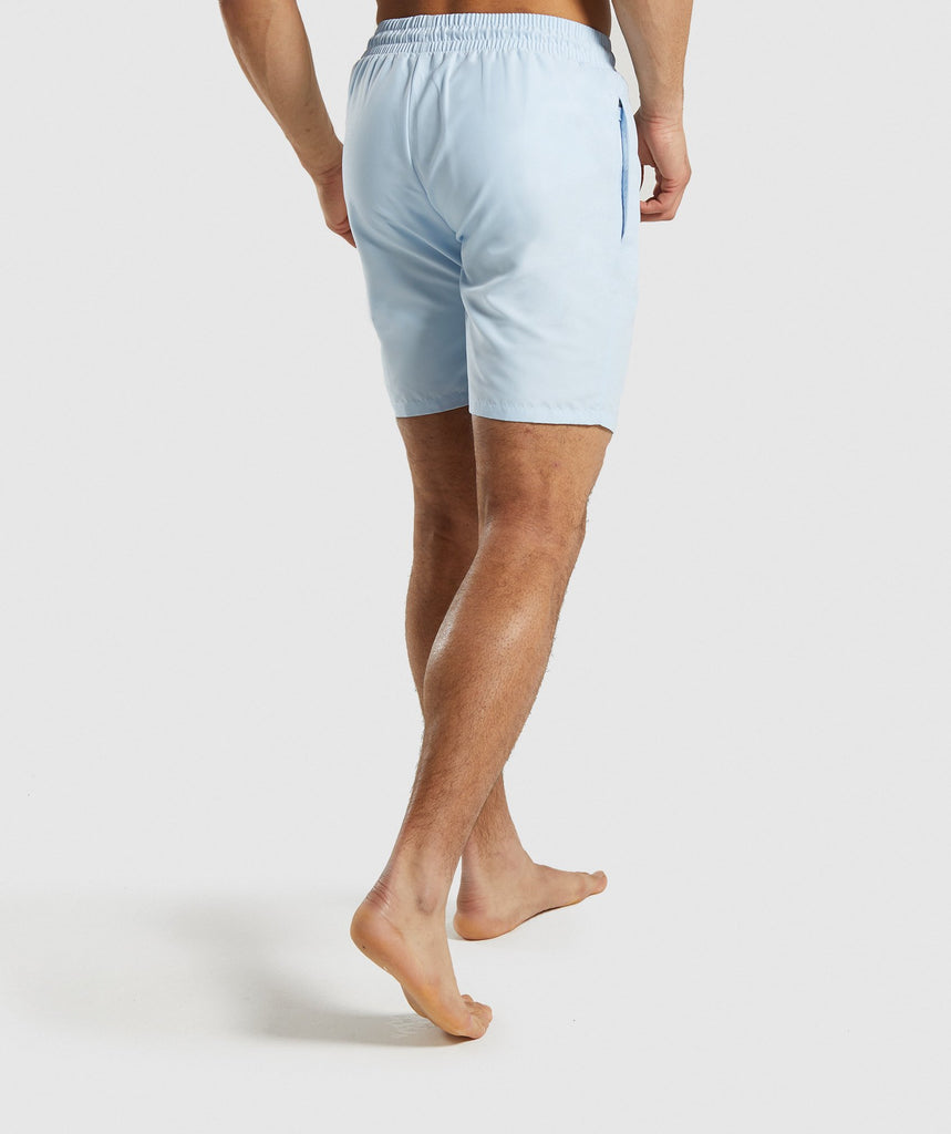 Gymshark Oversized Logo Board Shorts - Light Blue 2