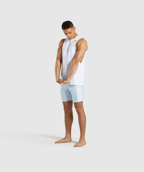 Gymshark Oversized Logo Board Shorts - Light Blue 3