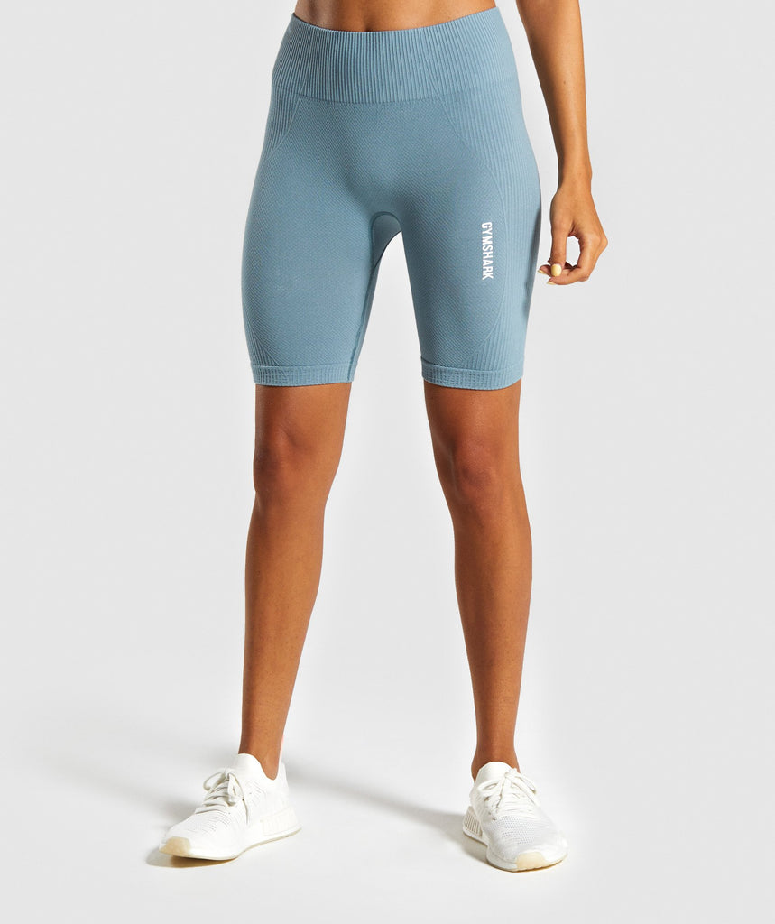 Gymshark Power Down Shorts - Turquoise 1
