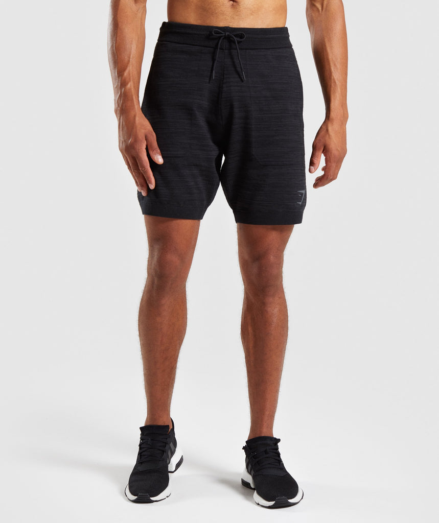 Gymshark Pinnacle Knit Shorts - Black Marl 1