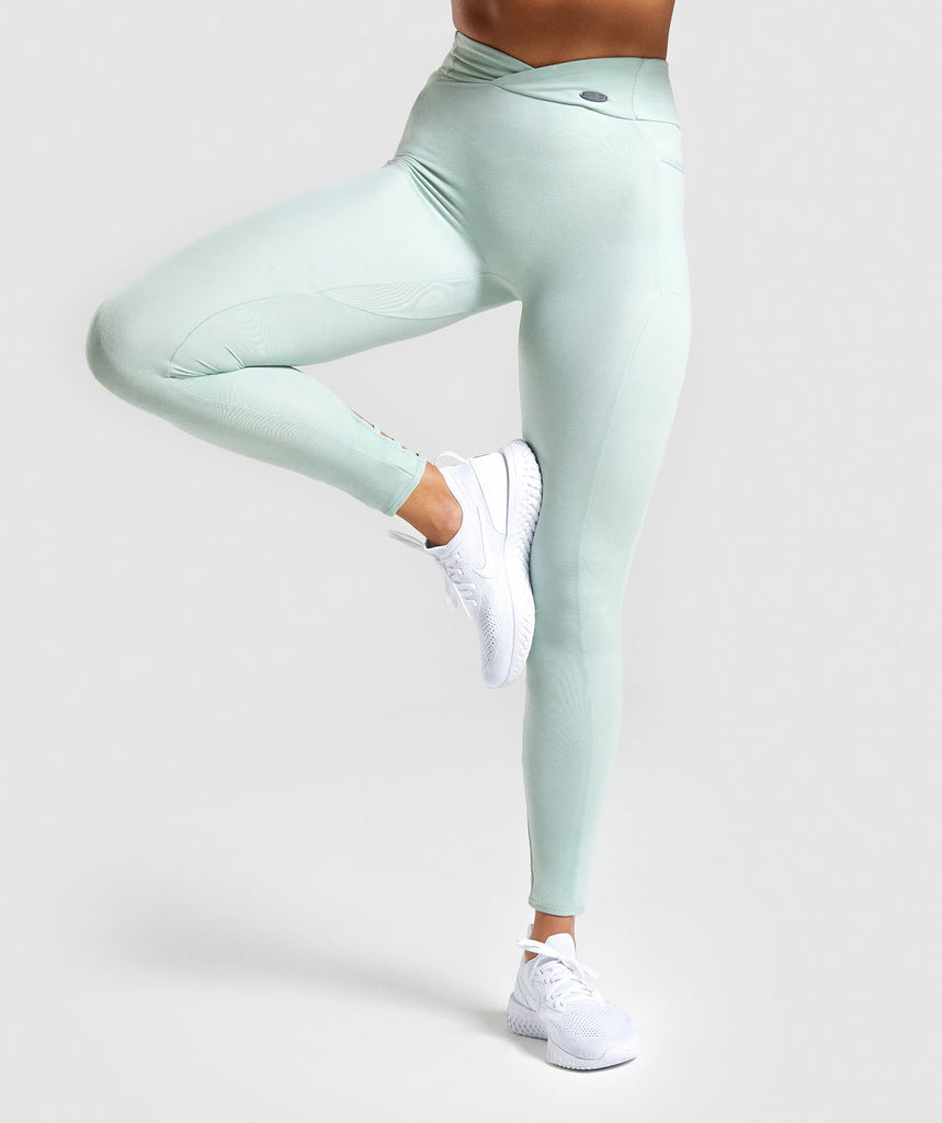 Gymshark Poise Leggings - Light Green 1