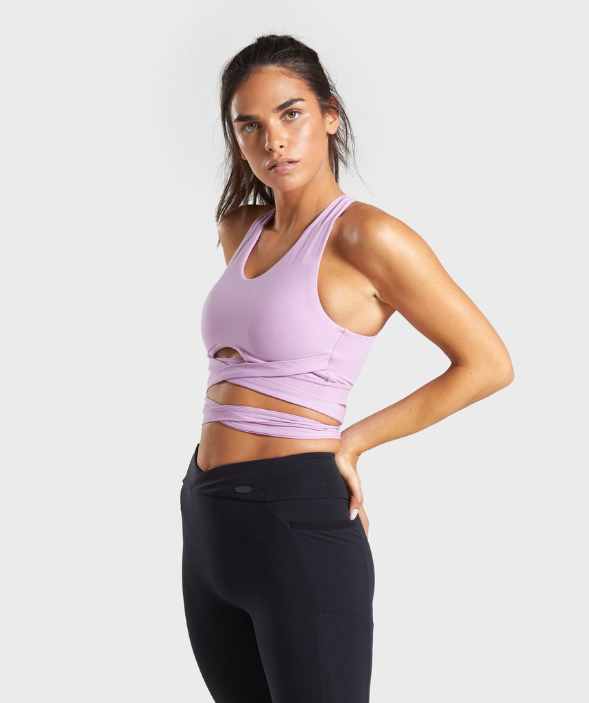 Gymshark Poise Wrap Around Bralette - Pink 1