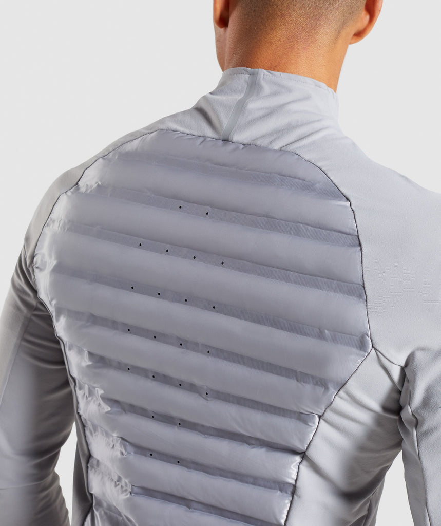 Gymshark Power Lightweight Jacket - Light Grey 6