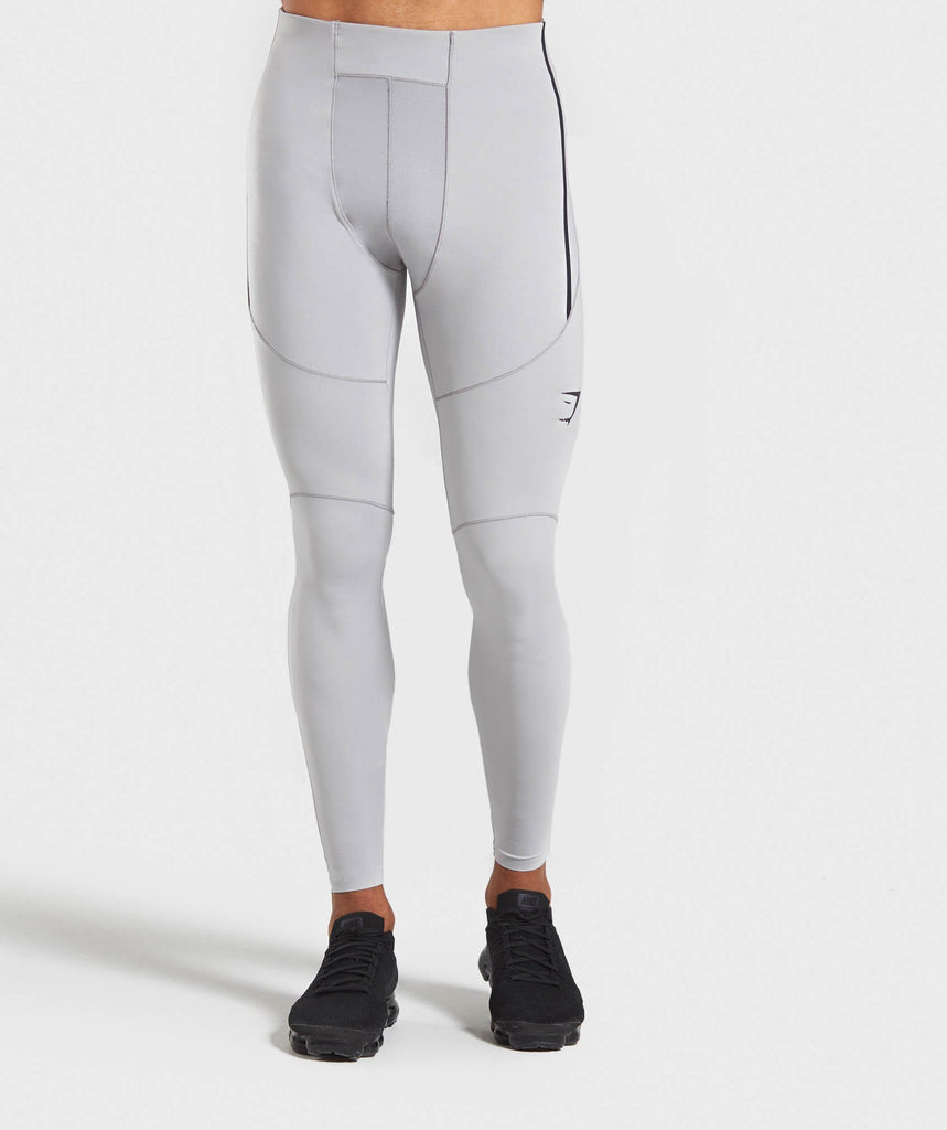 Gymshark Premium Baselayer Leggings - Light Grey 1