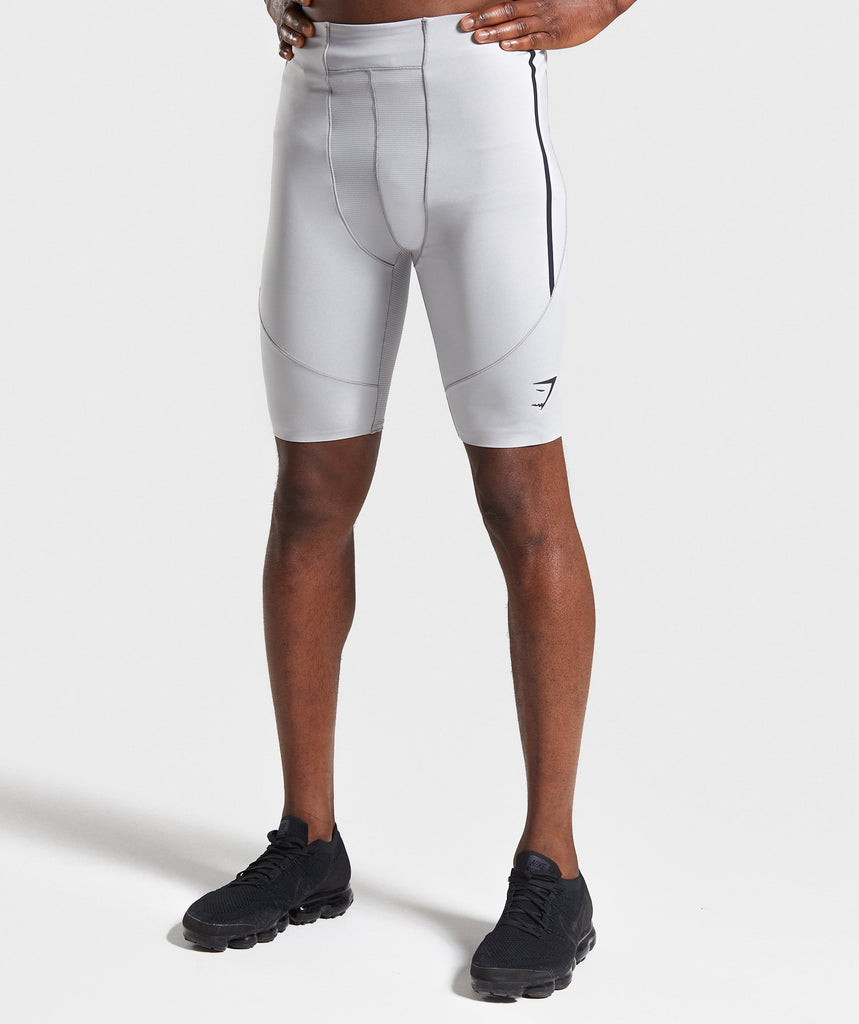 Gymshark Premium Baselayer Shorts - Light Grey 1