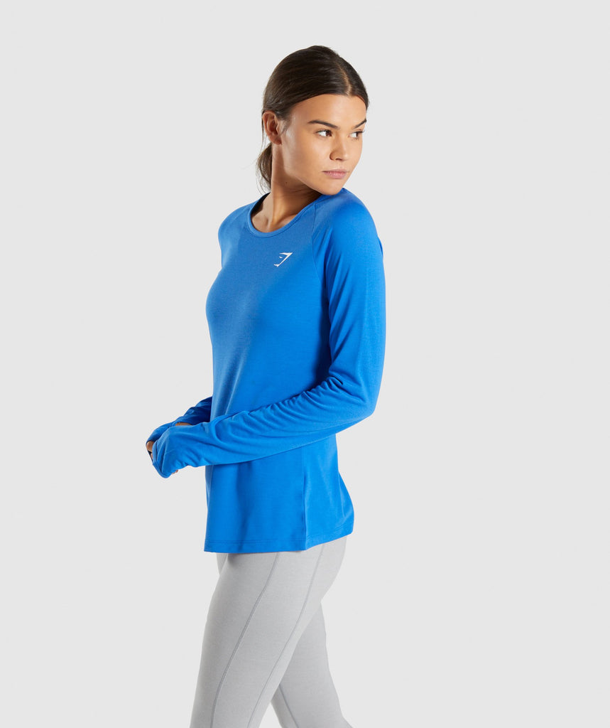Gymshark Primary Open Cross Back Long Sleeve - Pop Blue 1