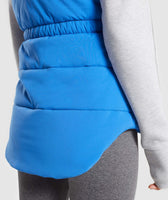 Gymshark Primary Puffer Gilet - Pop Blue 12