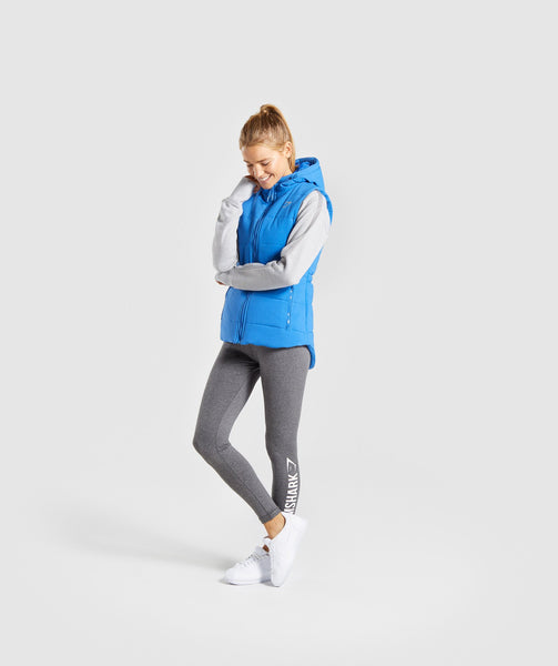 Gymshark Primary Puffer Gilet - Pop Blue 3