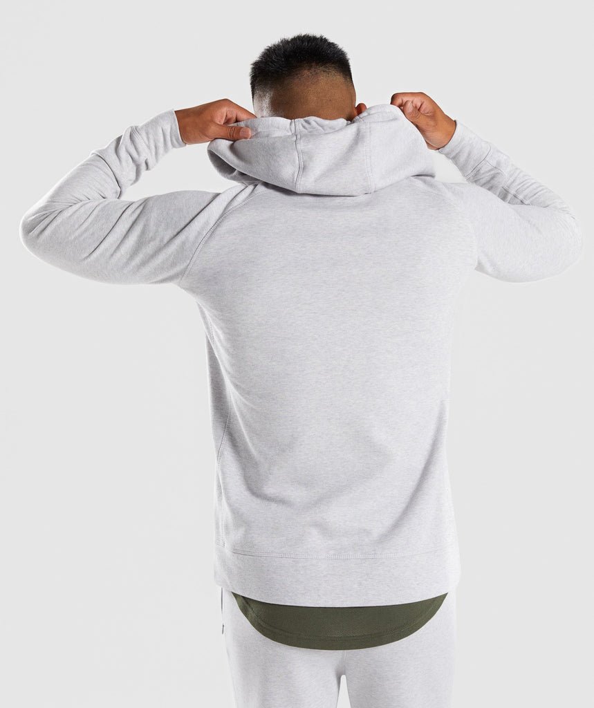 Gymshark Principle Zip Hoodie - Light Grey Marl 2