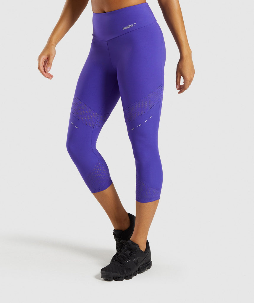 Gymshark Pro Perform Crop Leggings - Indigo 1