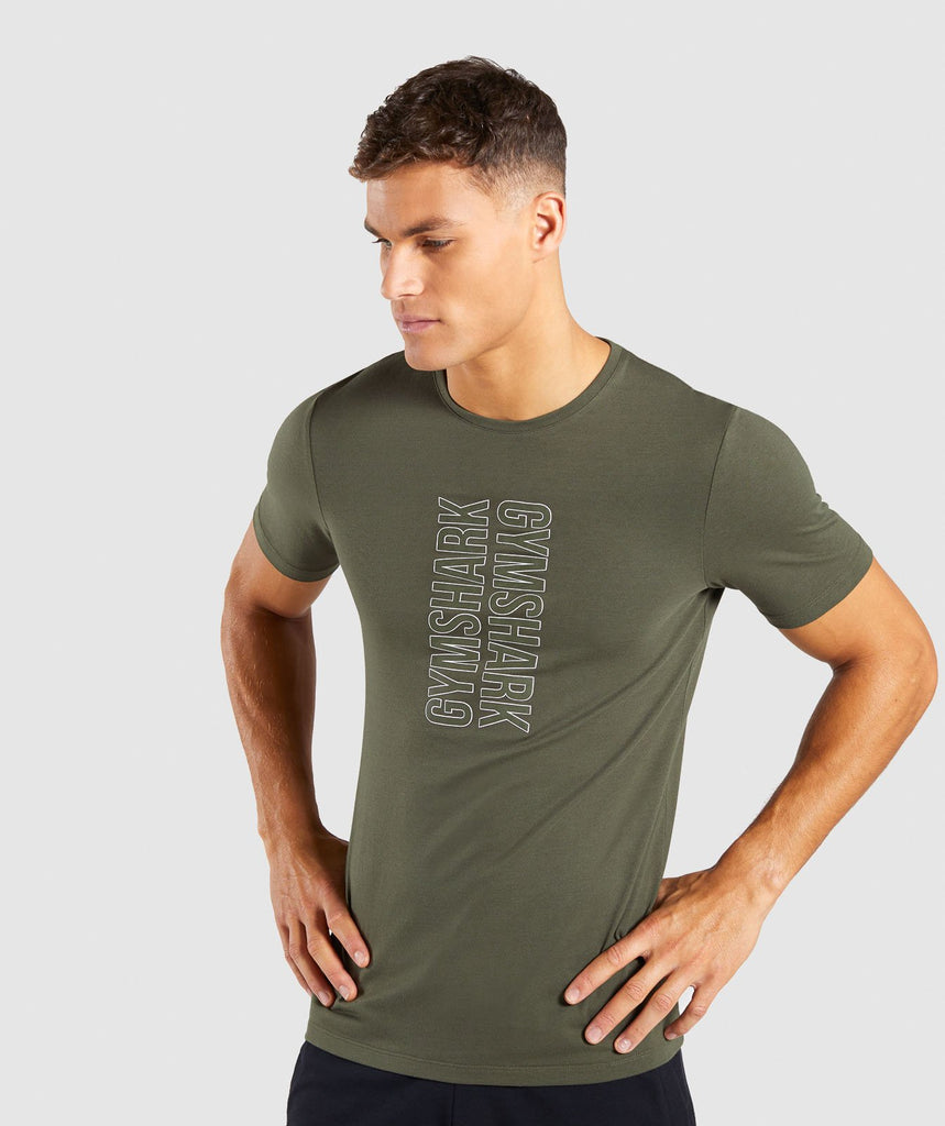 Gymshark Profile T-Shirt - Woodland Green 1