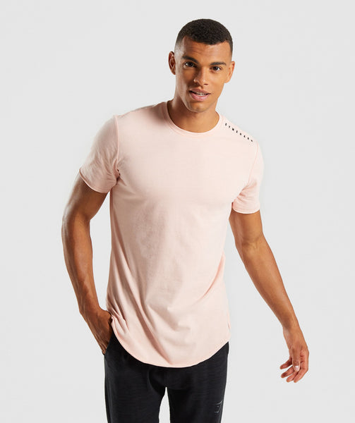 Gymshark Raised Logo T-Shirt - Blush Nude 4