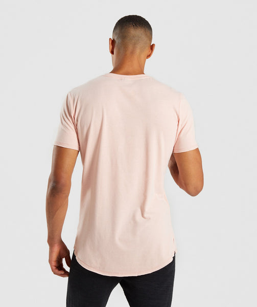 Gymshark Raised Logo T-Shirt - Blush Nude 1