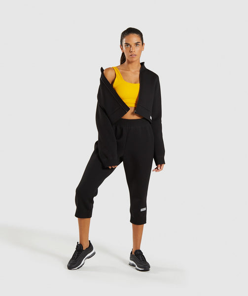 Gymshark Ruched Track Top Jacket - Black 3