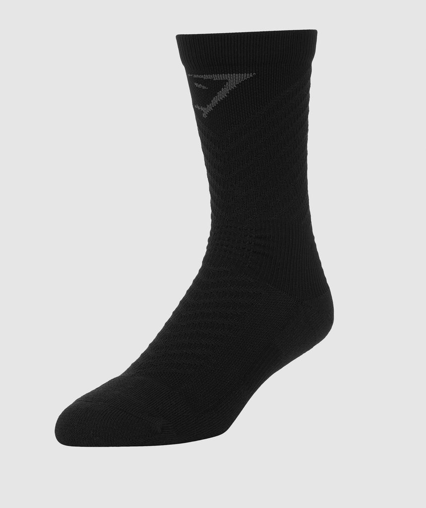Gymshark Thick Tech Crew Socks - Black 1