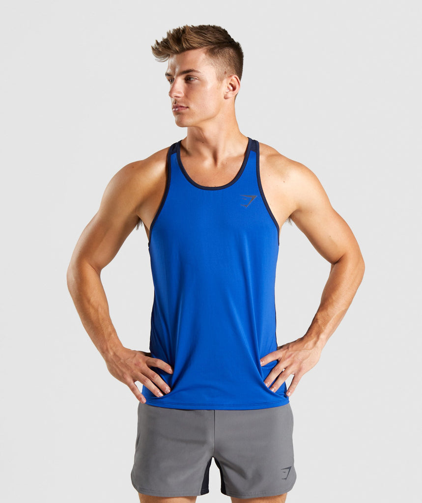 Gymshark Speed Tank - Blue 1