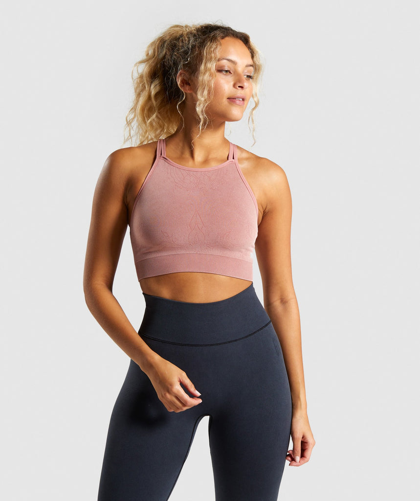 Gymshark Studio Seamless Sports Bra - Blush 1