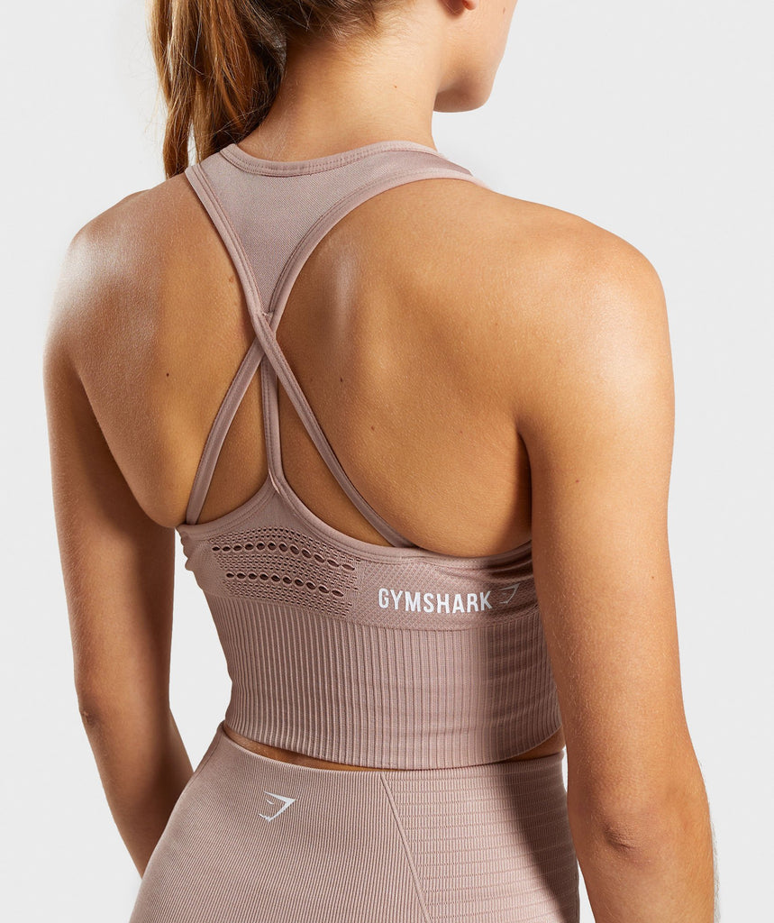 Gymshark Energy Seamless Crop Vest - Taupe 6