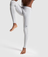 Gymshark Selective Compression Leggings - Light Grey 7