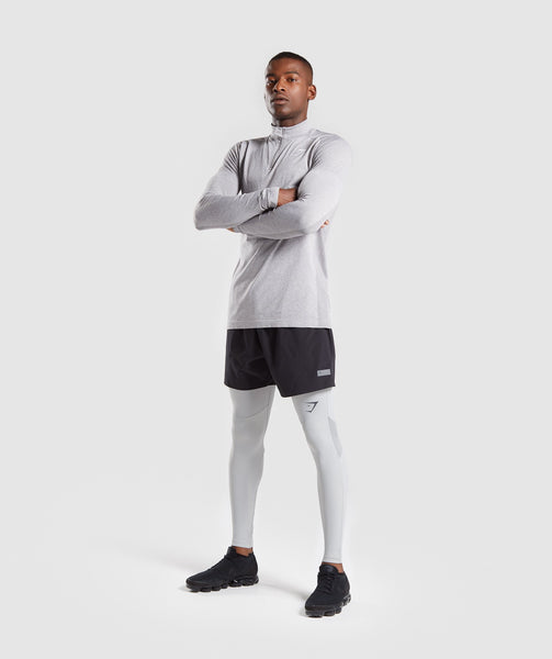 Gymshark Selective Compression Leggings - Light Grey 4