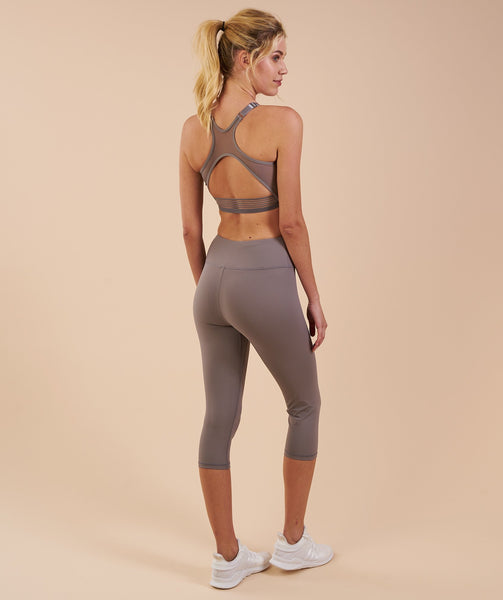 Gymshark Dreamy Cropped Leggings - Slate Grey