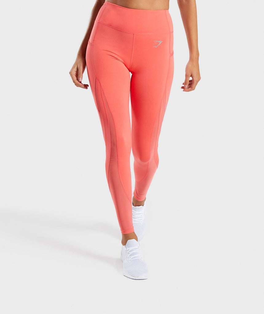 Gymshark Sleek Sculpture Leggings 2.0 - Intense Coral 1