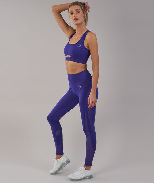 Gymshark Sleek Sculpture Leggings 2.0 - Indigo 3