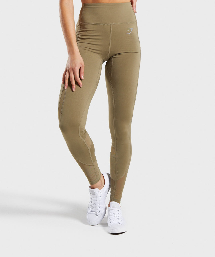 Gymshark Sleek Sculpture Leggings 2.0 - Khaki Wash 1