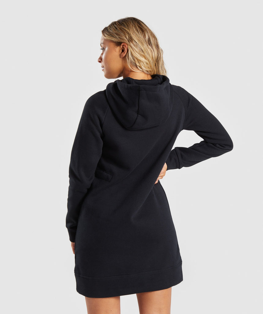 Gymshark Slim Fit Hooded Dress - Black 2