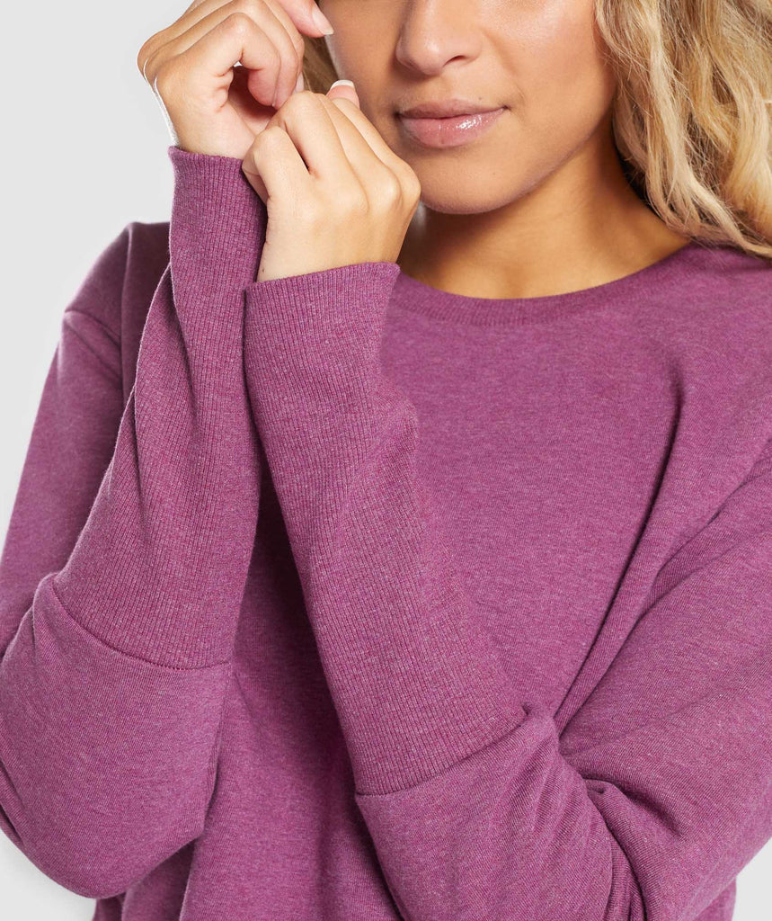 Gymshark Slounge Crescent Sweater - Dark Ruby Marl 5