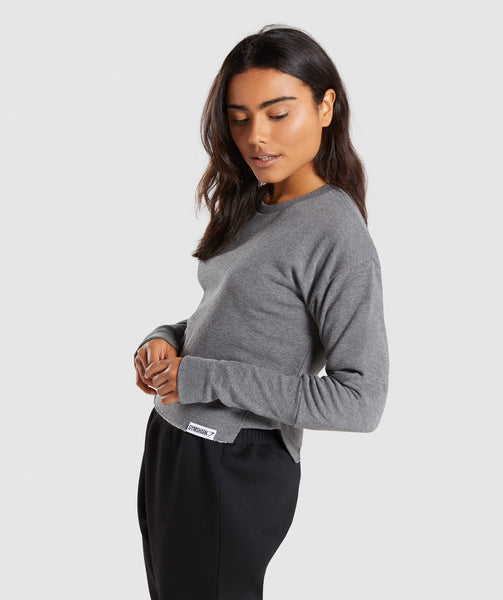 Gymshark Slounge Crescent Sweater - Charcoal Marl 2