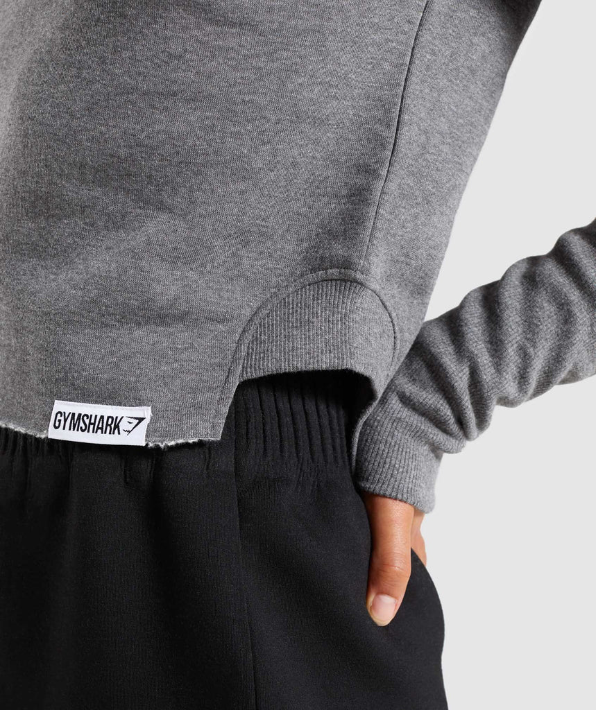 Gymshark Slounge Crescent Sweater - Charcoal Marl 5