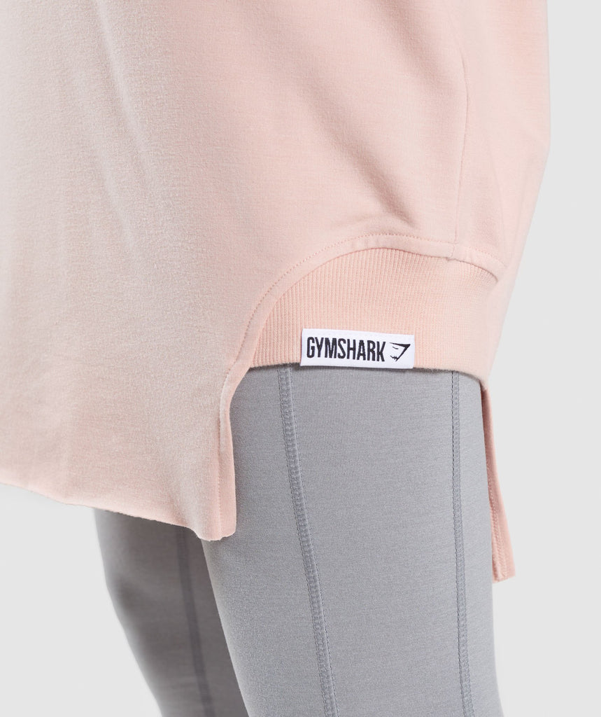 Gymshark Slounge Crescent T-Shirt Dress - Blush Nude 6