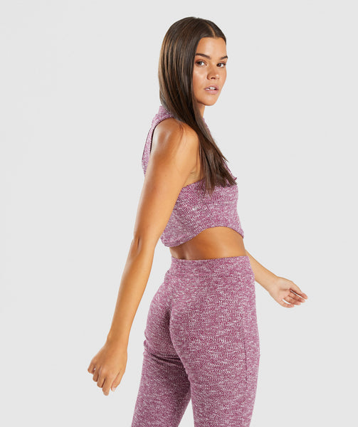 Gymshark Slounge Crop Top - Deep Plum Marl 4