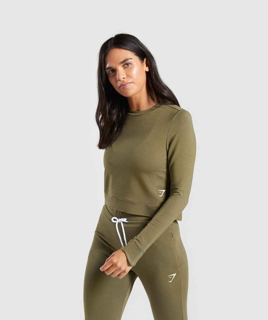 Gymshark Solace Sweater - Khaki 1