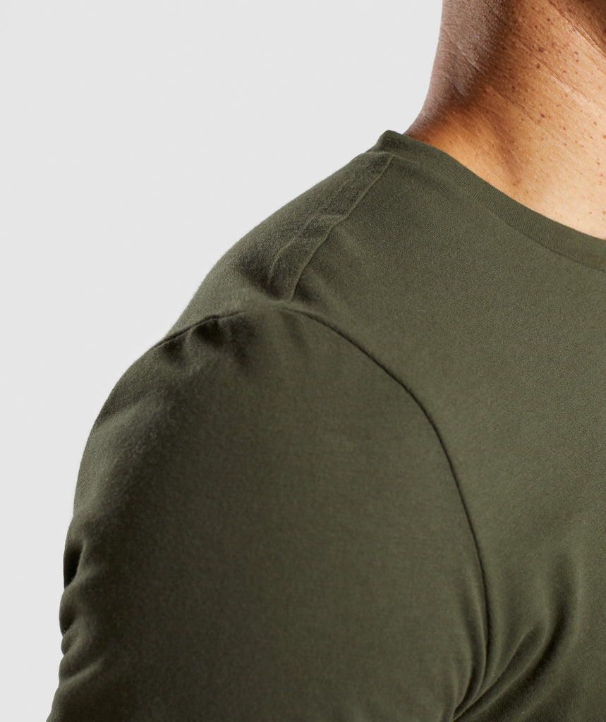 Gymshark Stamped Logo T-Shirt - Woodland Green 6