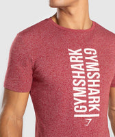 Gymshark Statement T-Shirt - Red Marl 10