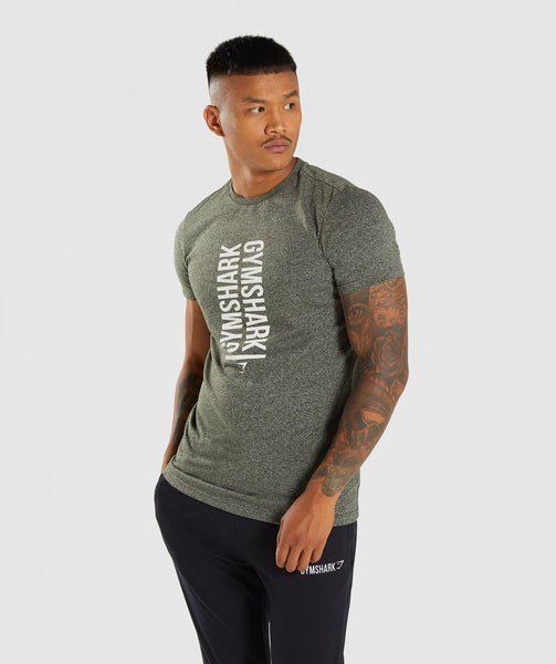 Gymshark Statement T-Shirt - Woodland Green Marl 4