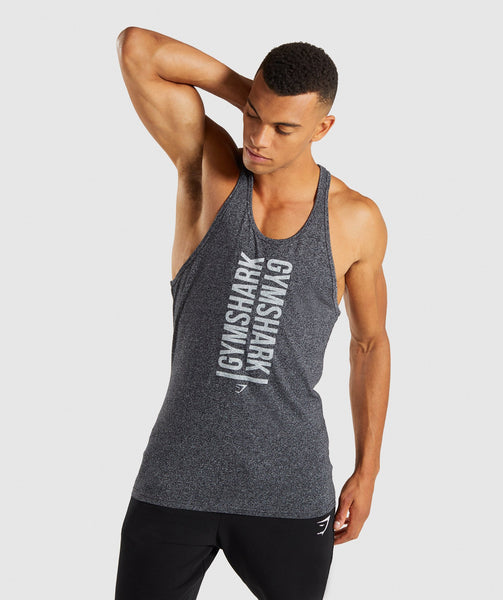 Gymshark Statement Stringer - Black Marl 4