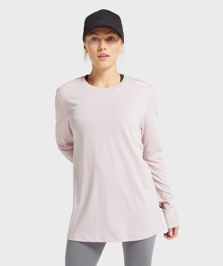 Gymshark Training Oversized Long Sleeve Tee - Pink 1