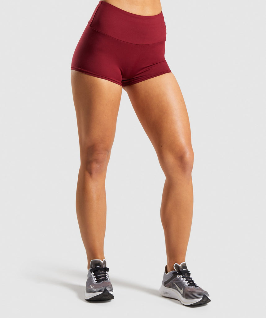 Gymshark Training Short Length Shorts - Claret 1