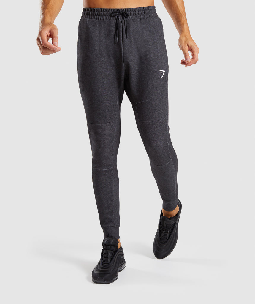Gymshark Take Over Bottoms - Black Marl 1