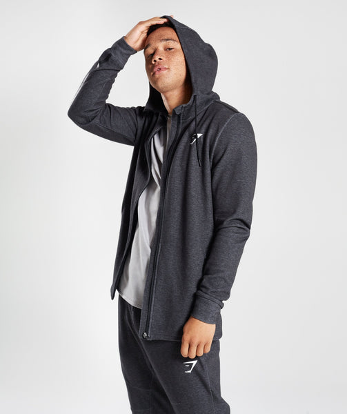 Gymshark Take Over Zip Hoodie - Black Marl 3