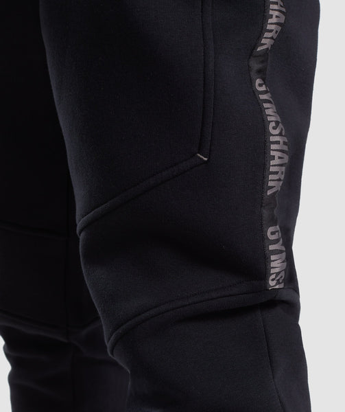 Gymshark Taped Joggers - Black 4