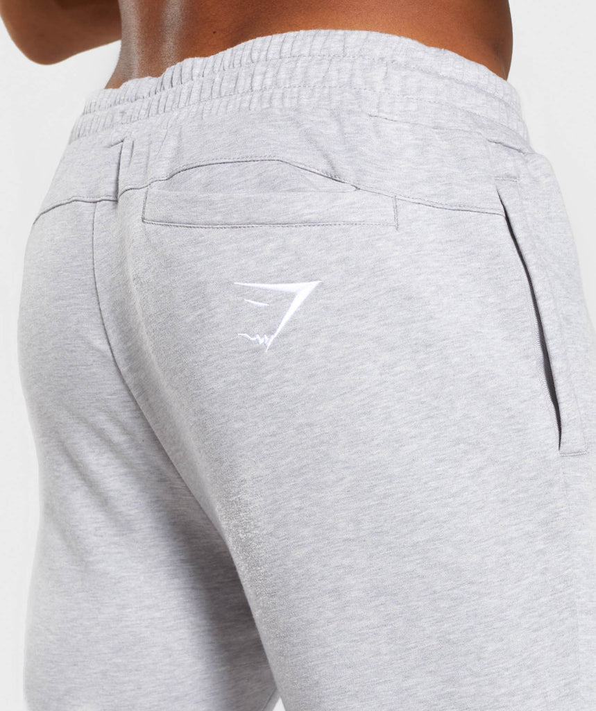 Gymshark Tapered Bottoms - Light Grey Marl 5