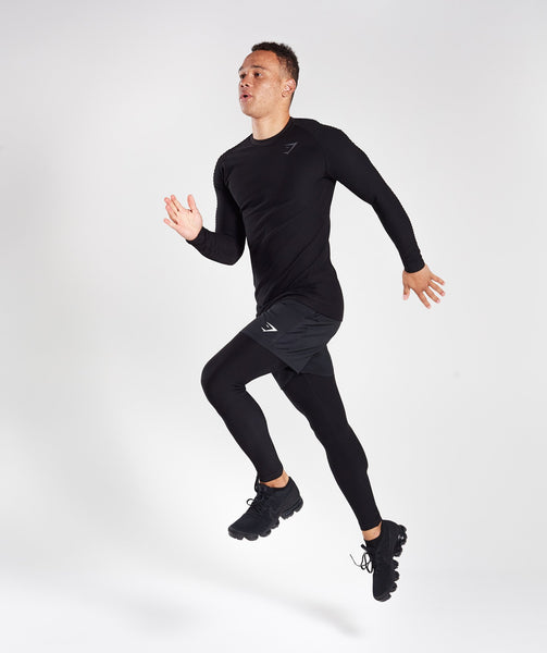Gymshark Tech Long Sleeve Top - Black 3