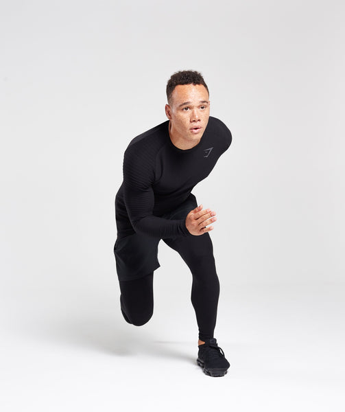 Gymshark Tech Long Sleeve Top - Black 4