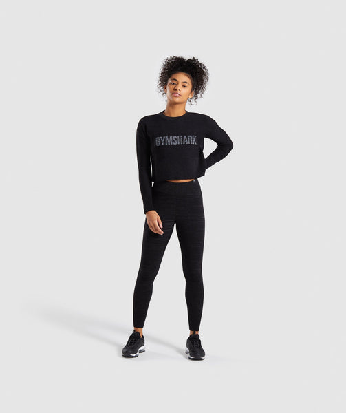 Gymshark Time Out Knit Joggers - Black Marl 3