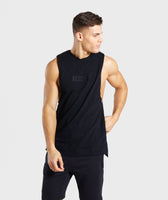 Gymshark Tonal Sleeveless T-Shirt - Black 7