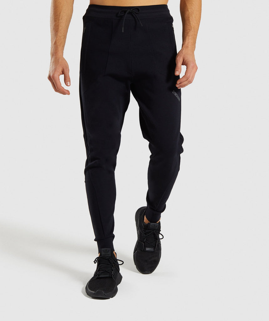 Gymshark True Knit Joggers - Black 1